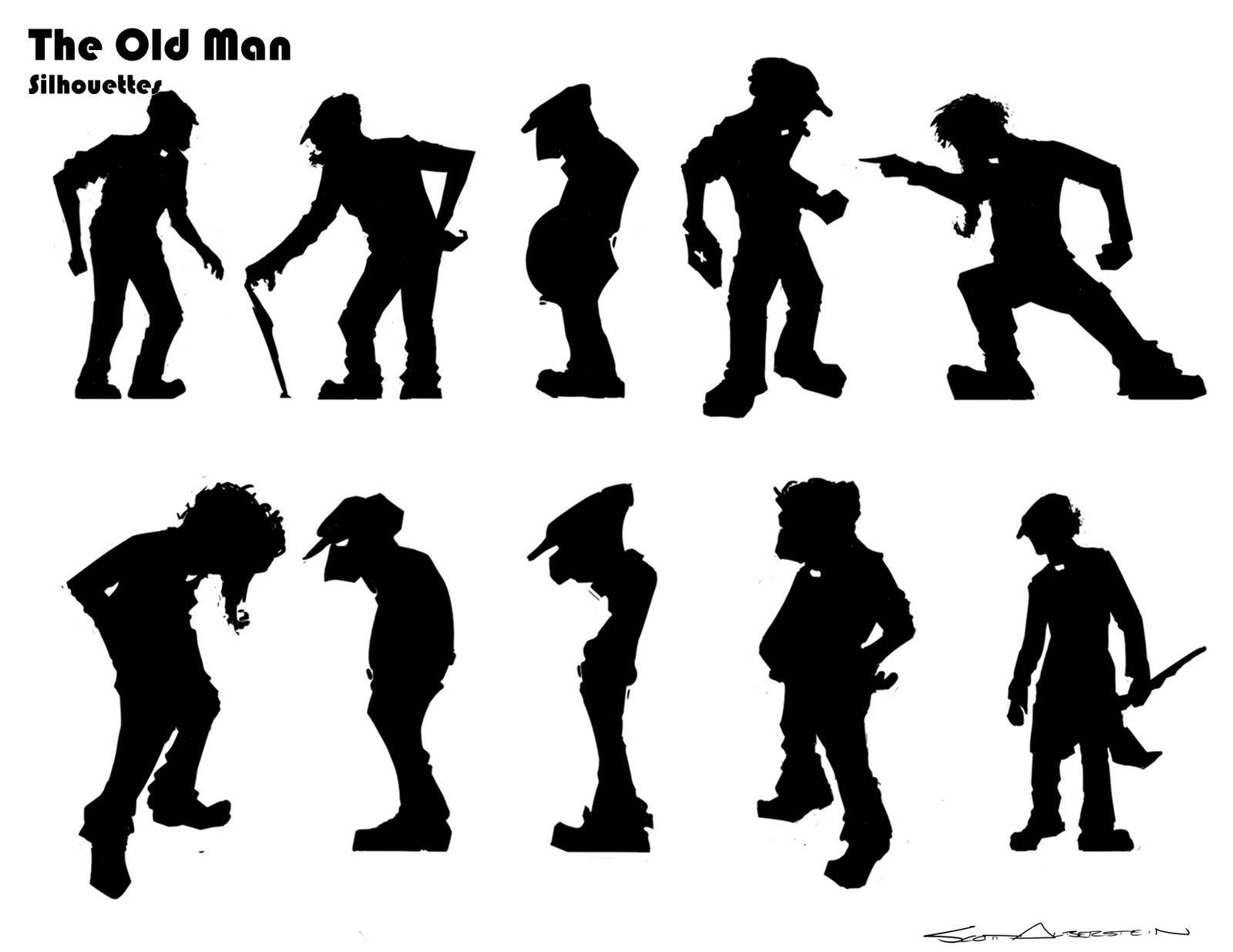 Old Man Human Silhouette Silhouette Man