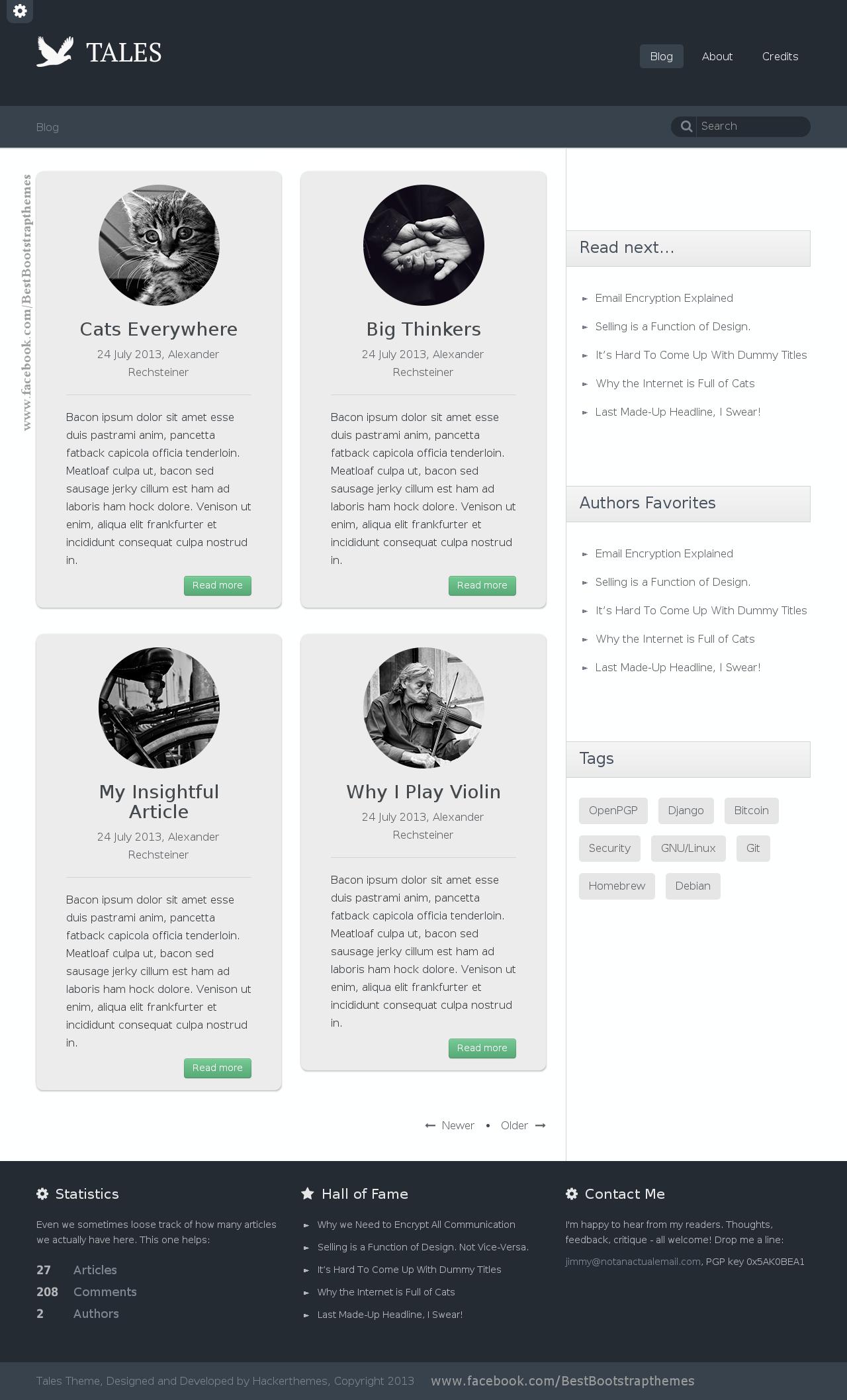 Tales - Responsive Blog Theme is a clean, elegant blog theme built ...