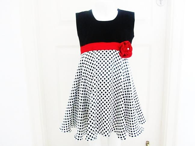 Rosette Dress Sewing Pattern for Girls ( pdf pattern), 6 months to ...