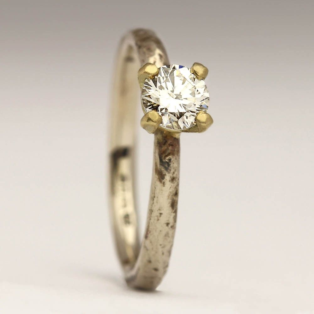 band by gold rings organic handmade ring or custom diamonds valeriekstudio w wedding engagement with made