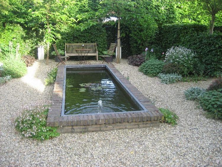 10x Vijver Inspiratie : Zitje bij klassieke vijver vijver fontein