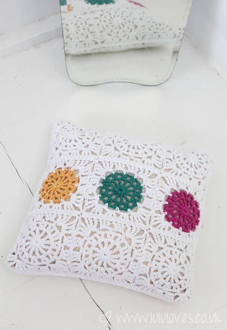 Crochet Cushion - Lululoves .....No pattern yet, but use your ...