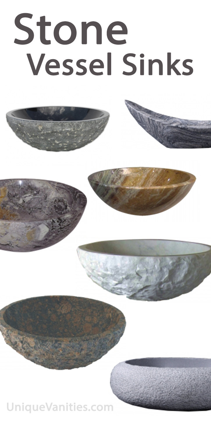 Bathroom rock vessel sinks - Shop Solid Stone Vessel Sinks For Your Bathroom Granite Marble Onyx And More