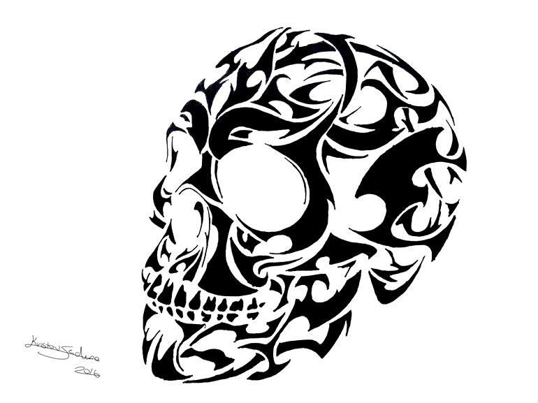 Skull Tatto Pics Gallery In 2020 Skull Illustration Skull Tattoo Design Tribal Skull