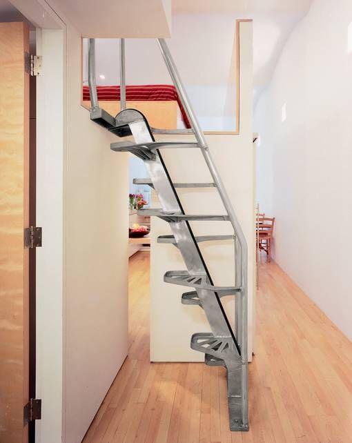Dise os de escaleras interiores para espacios reducidos for Diseno de espacios pequenos