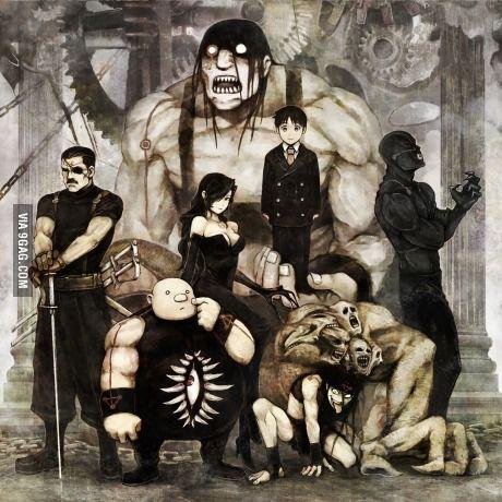 Hommunculi: Wrath, Sloth, Gluttony, Lust, Pride, Envy, Greed