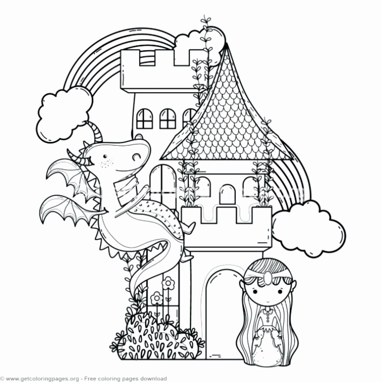 Detailed Dragon Coloring Pages Luxury Castle Coloring Pictures Princess Meltingclock Dragon Coloring Page Fairy Coloring Pages Castle Coloring Page