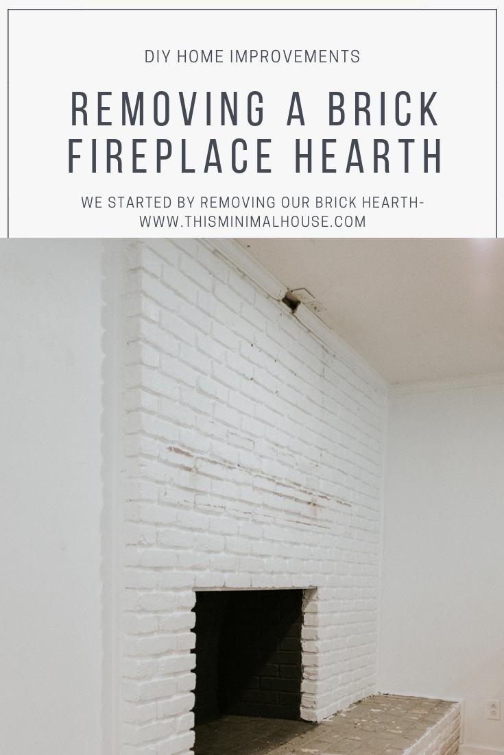 Removing Our Fireplace S Brick Hearth Brick Hearth Brick
