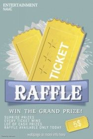 raffle giveaway ticket poster flyer template | Free Poster