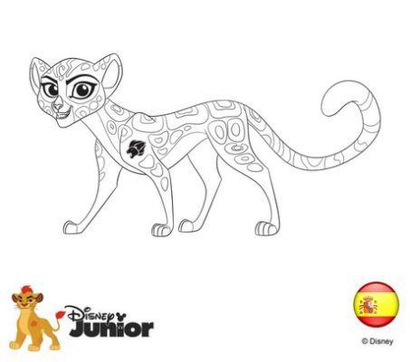 Lion Guard Kions Sister Coloring Lion Coloring Pages Disney Coloring Pages Coloring Books