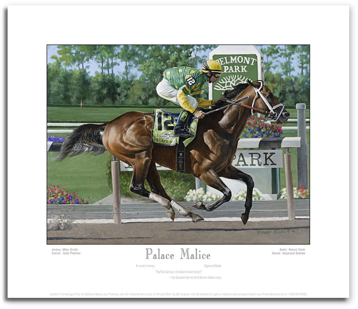 Fine Art Editions   Palace Malice by Robert Clark – Print