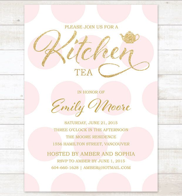 kitchen tea invite bridal high tea invitation kitchen tea