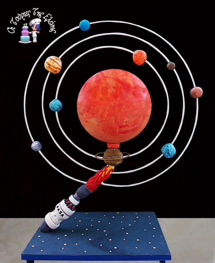 Planet System!!! Gravity cake - Cake by Moustoula Eleni (Οι Τούρτες Της Ελένης) #gravitycake