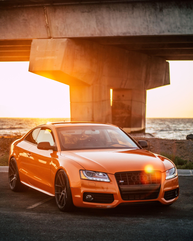 Cars Bridge Sunset Goldenhour Sportscar Orange Wallpapers Hd