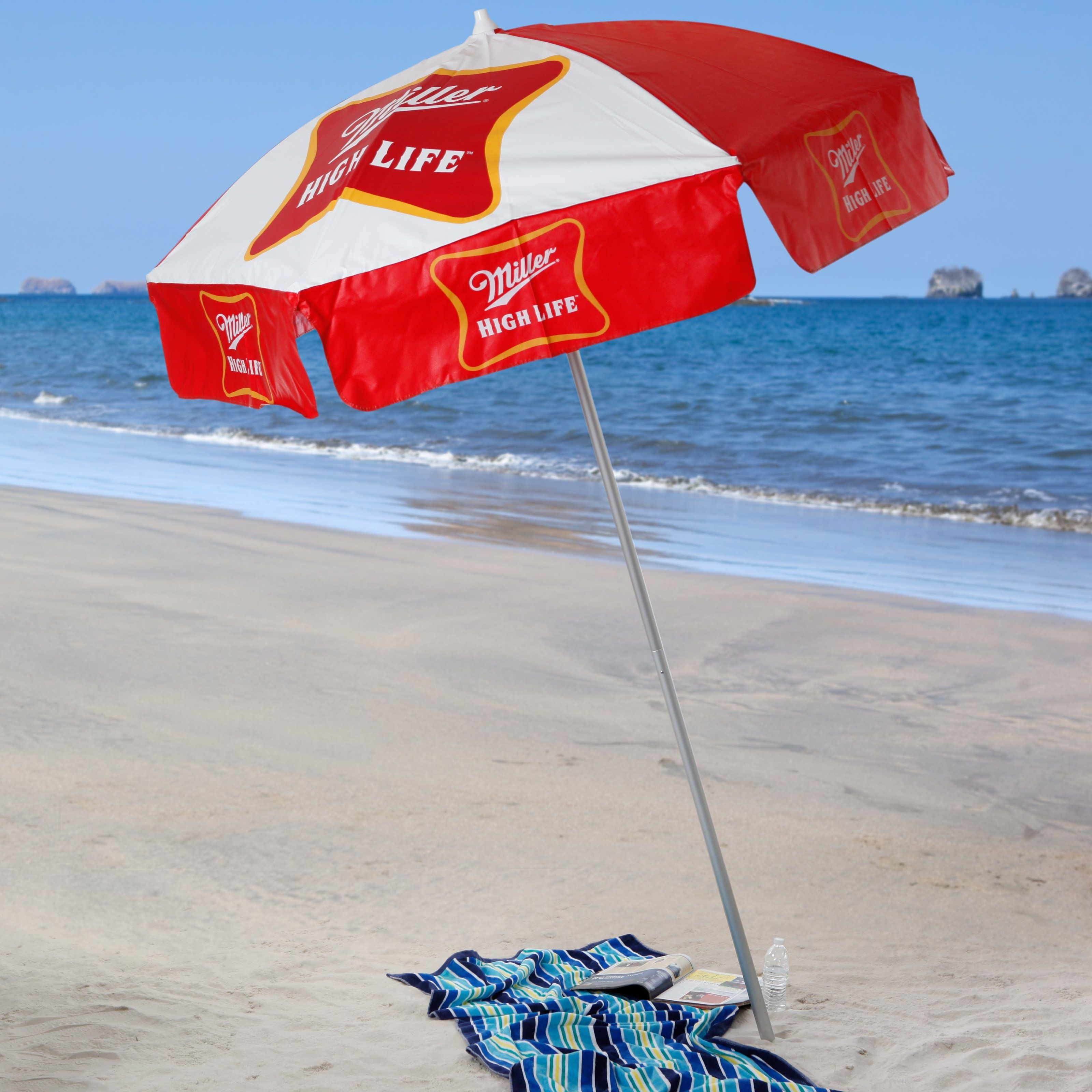 Have to have it Miller High Life 6 ft Beach Umbrella $99 99