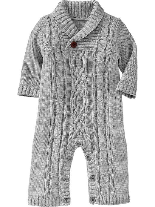 a5bd1a9b2431 Cable-Knit Sweater One-Pieces for Baby