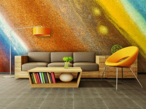 10 Living Room Designs With Unexpected Wall Murals | Wall murals ...