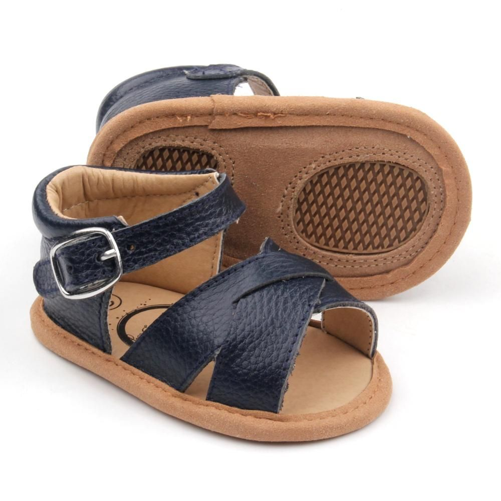 Navy Blue Soft Sole Sandal Moccasin