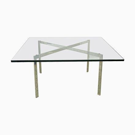 Barcelona Tisch von Mies Van der Rohe für Knoll, 1960er Jetzt - tisch für wohnzimmer