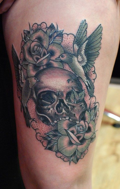 Neo Traditional Black and grey work from Alex Roze ...