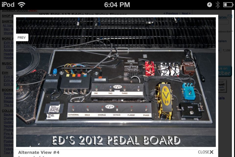 evh pedalboard evh the king eddie van halen van halen guitar rig. Black Bedroom Furniture Sets. Home Design Ideas