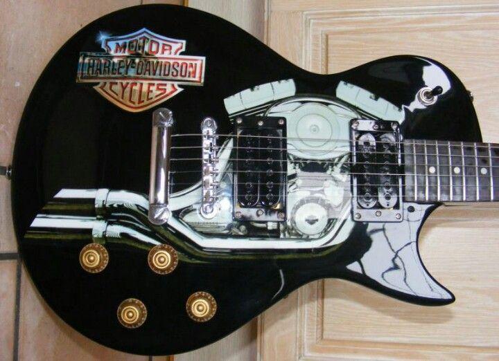 Harley Davidson Guitar With Images Harley Harley Davidson