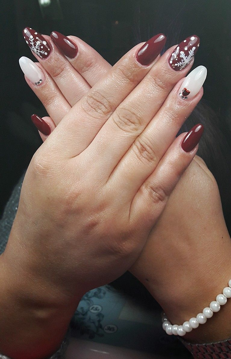 Nails Nailart Winter By Me Espero Que Gostem Nagel Manicuras