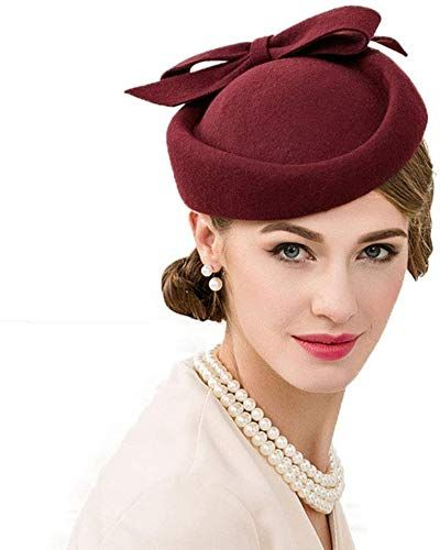 Best Seller F FADVES British Style Pillbox Hat Retro Wool Fascinator Wedding Derby Church Party Hats online #fascinatorstyles