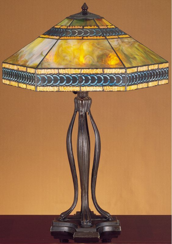 Meyda Tiffany 31227 Stained Gl Table Lamp From The Cambridge Collec Lamps