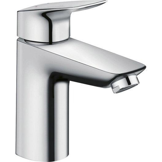 Salle De Bains Grise Aux Effets M Tallises Leroy Merlin Single Hole Bathroom Faucet Faucet Bathroom Faucets Chrome