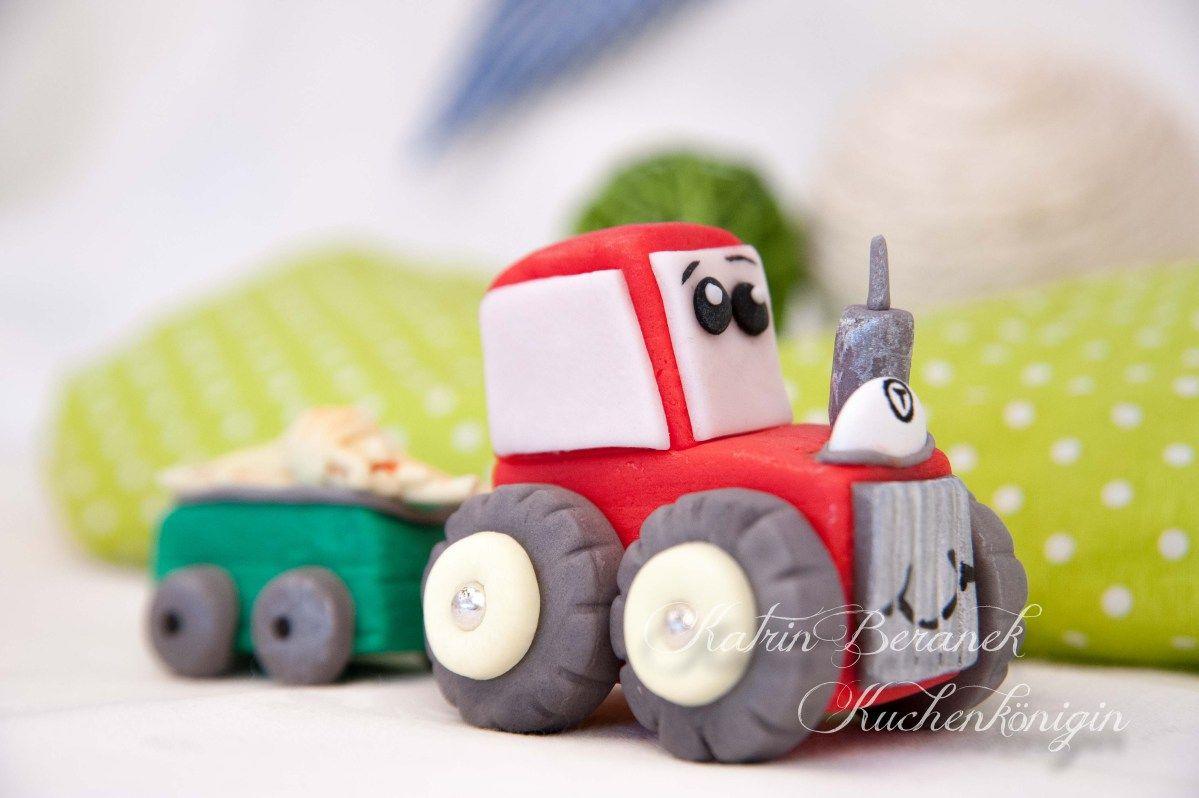 Fondant Traktor Traktor Kuchen Kuchen Kindergeburtstag Traktor Torten Dekorieren