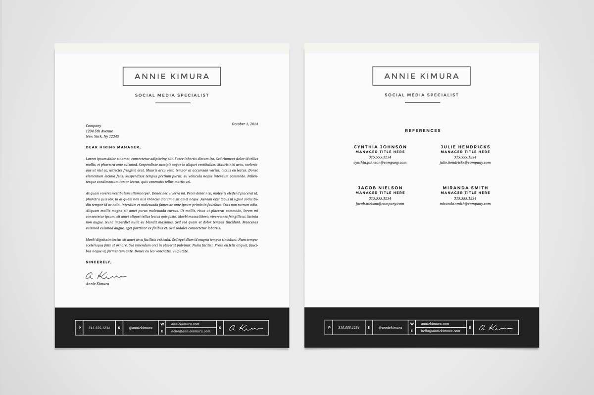 Resume Template 4 Pack CV Template Resume template, Cv