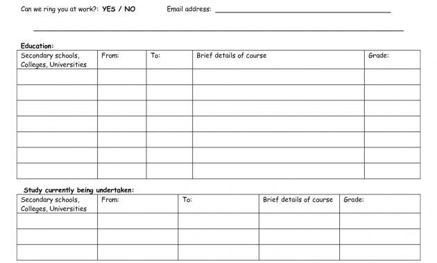 resume template business reference form simple application basic