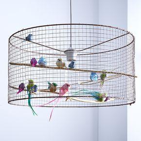 luminaire cage oiseau - idée déco noel http://www.zodio.fr/idees ...