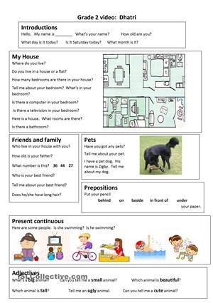 Trinity Gese Grade 2 Video Worksheet Insegnanti Di Inglese