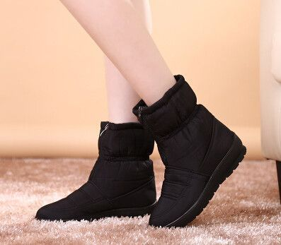 2016 autumn winter casual snow boots waterproof women ankle boots thermal flat slip-resistant fashion winter shoes woman