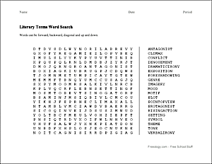 Literary Terms Word Search | ELA | Pinterest | Shops, Words and ...