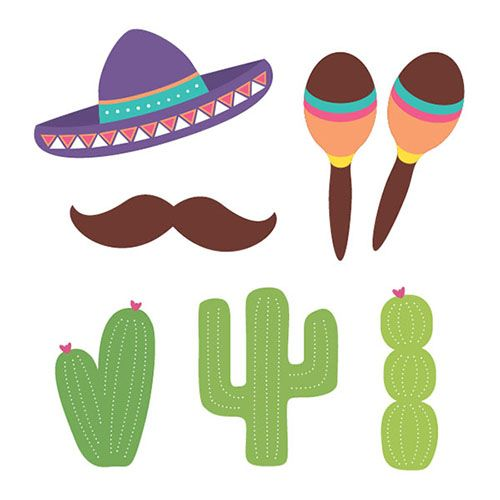 #Mexican or Cinco de Mayo party photo booth props - DIY printable! #photobooth #props #cincodemayo