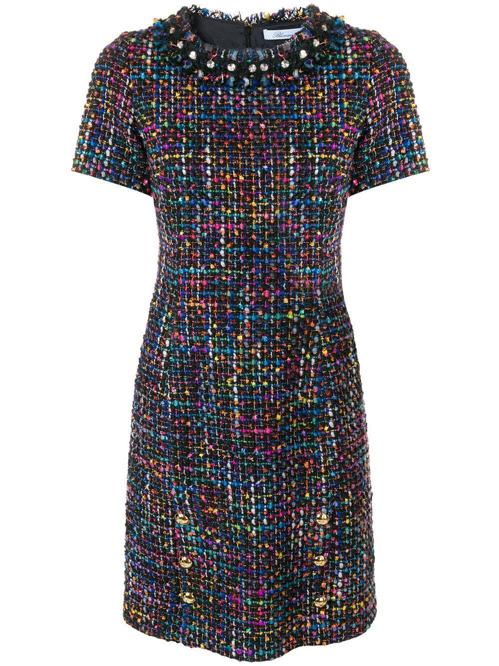 Blumarine Tweed Dress Rochii In 2019 Dresses Tweed
