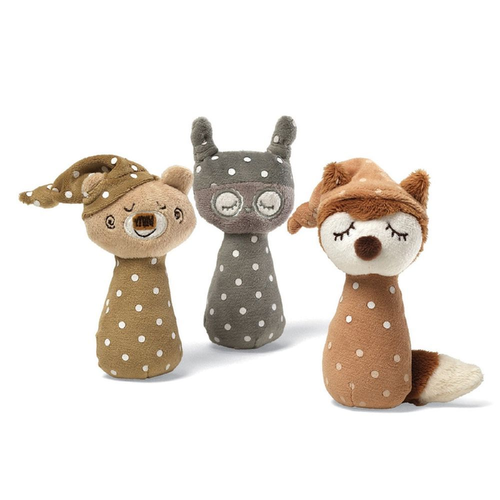 Check out these cute polka dot rattles from gund toys