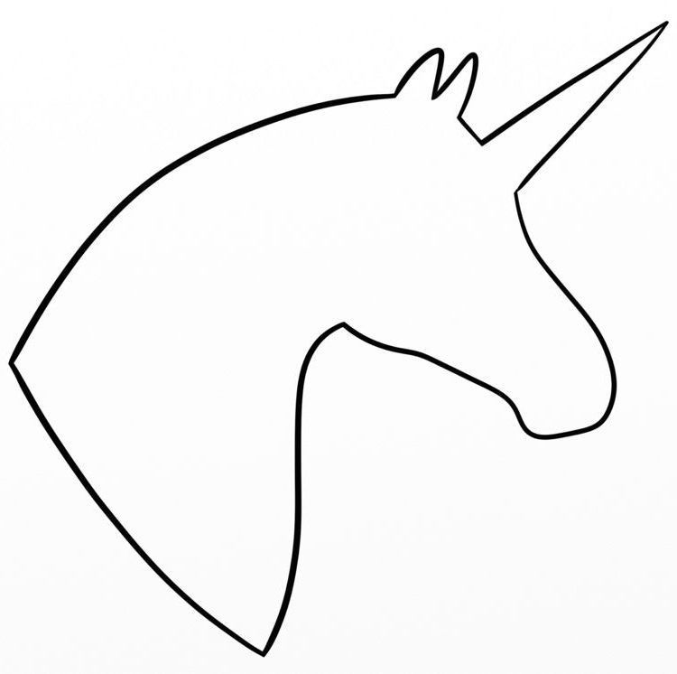 Coloring Page Unicorn Head Template Head Vorlage Unicorn