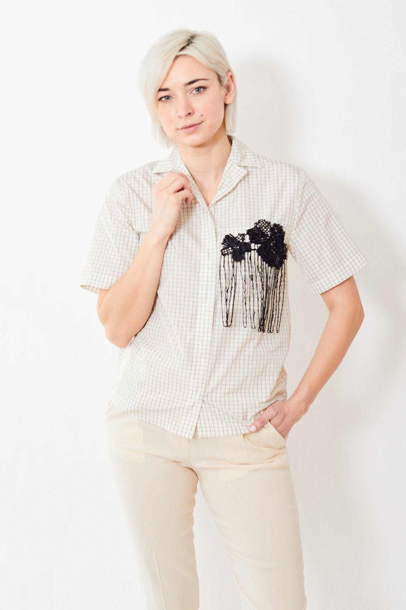 Chemise Tela Flair – IT 38 (US 2) / Blanc / Noir   – Products