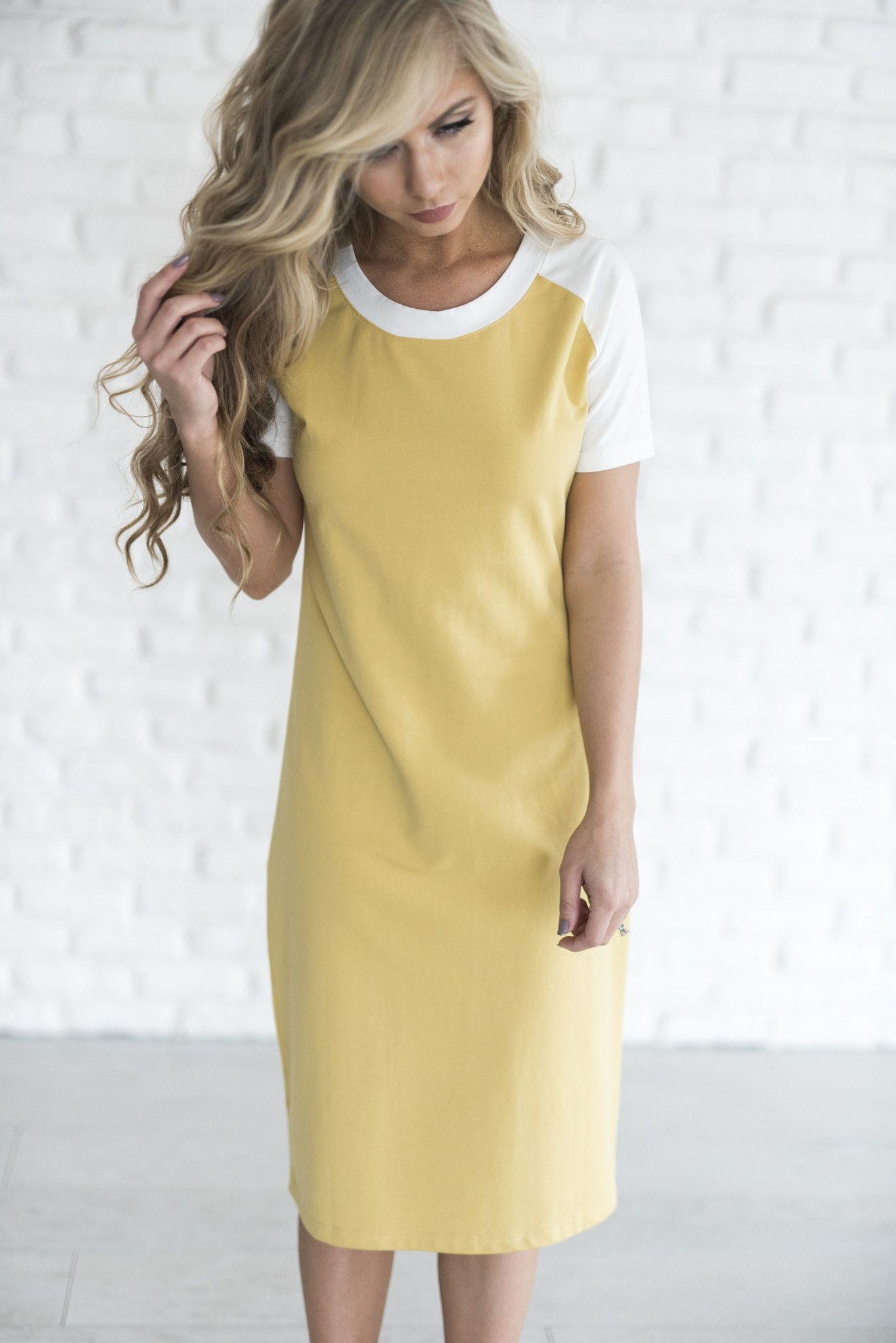Yellow Modest Summer Dresses