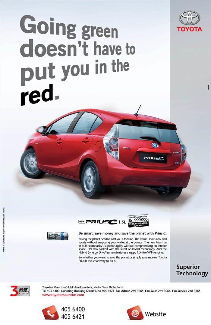 Toyota Prius C Go Green Info 405 6400