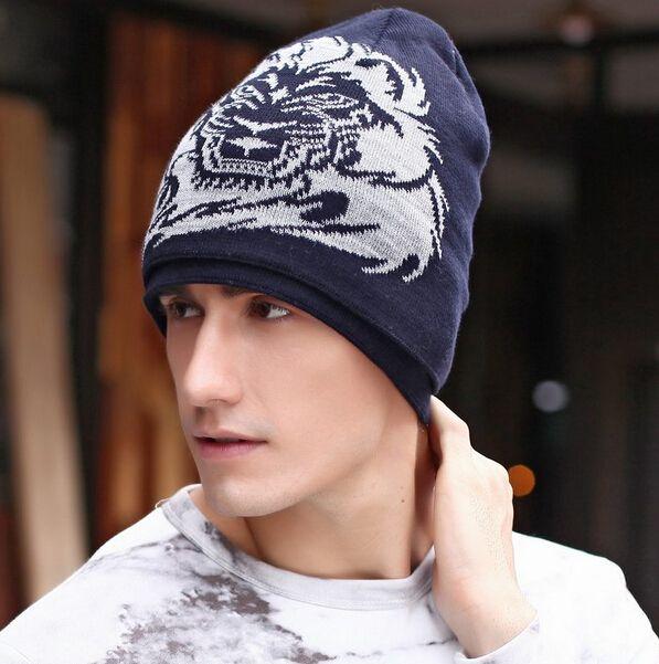 39bda8f52dc Fashion lion knit hat for men hip hop style winter beanie hats ...