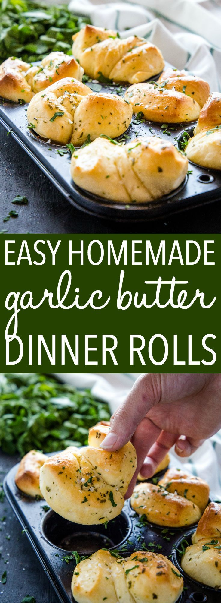 Easy Homemade Garlic Butter Dinner Rolls images
