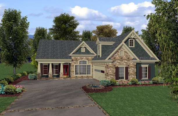 totally in love with this plan love the l shape of the house - L Shaped Craftsman Home Plans