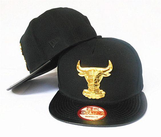 3511e10e0827 ... germany cheap nba chicago bulls snapback black hats gold bull logo  1051factory direct sale and please