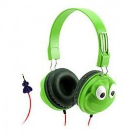 Stylish kids child safe headphones to protect the hearing of children Griffin GC35894 Green Kids KaZoo MyPhones Frog Over-the-Ear Headphones. Child safe headphones KaZoo MyPhones have built-in volume-limiting circuitry that keeps the sound pressure down to levels recommended as safe for young ears.